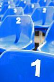 Assentos azuis