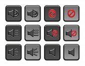 Volume icons set
