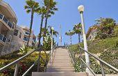 Tall Staircase In Long Beach California.