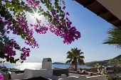 Beautiful day in a summer day at Bodrum Turgutreis, Turkey.