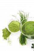 image of chlorella  - Green natural superfood - JPG