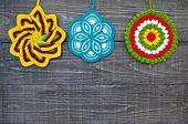 Knit Flower Potholders.