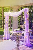 Beautiful Wedding Gazebo In Summer Park