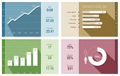 Infographics vector design template. Trendy flat style. Graph, diagram, charts - use for financial and business reports. Statistics & analytics theme.
