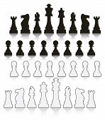 Vector Set  Chess Symbols
