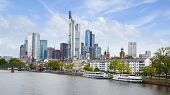 stock photo of frankfurt am main  - Panorama of Frankfurt am Main - JPG