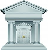 picture of greek-architecture  - Financial symbolic allegory of the bank building - JPG