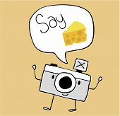 camera cartoon say cheese
