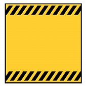 Blank Metallic Warning Sign