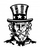 Uncle Sam 2 - Retro Clip Art Illustration