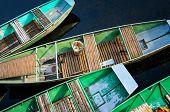 Colorfull Boats In Tam Coc Wharf, Ninh Binh Province, Vietnam