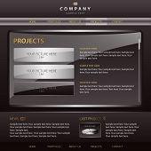 Template of dark brown website