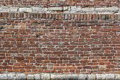 Medieval Fortress Antique Brick-stone Rampart Detail
