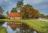 Autumnal rural landscape, Latvia