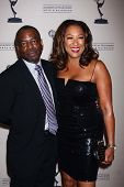 LeVar Burton and Stephanie Cozart Burton at the Daytime Emmy Nominees Reception presented by ATAS, M