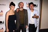 Rooney Mara, David Lowery and Casey Affleck at the