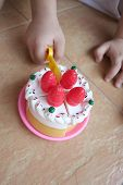 Kid's Hand Cutting Toy Cake poster