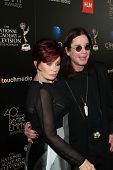 Sharon Osbourne and Ozzy Osbourne at the 40th Annual Daytime Emmy Awards, Beverly Hilton Hotel, Beverly Hills, CA 06-16-13