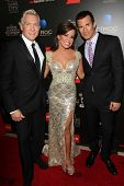 Sam Champion, Robin Mead and A.J. Hammer at the 40th Annual Daytime Emmy Awards, Beverly Hilton Hotel, Beverly Hills, CA 06-16-13