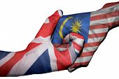 Handshake Between United Kingdom And Malaysia