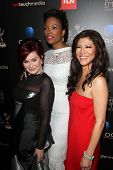 Sharon Osbourne, Aisha Tyler and Julie Chen at the 40th Annual Daytime Emmy Awards, Beverly Hilton H