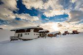 Ski Restaurant In Madonna Di Campiglio Ski Resort, Italian Alps, Italy