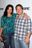 Katrina Law and Keith Andreen at the Comikaze red carpet Launch Party, Whimsic Alley, Los Angeles, CA 06-21-13