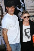 Natalie Maines and Adrian Pasdar at