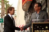 Jerry Bruckheimer and Bob Iger at the Jerry Bruckheimer Star on the Hollywood Walk of Fame ceremony,
