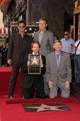 Johnny Depp, Bob Iger, Jerry Bruckheimer and Leron Gubler at the Jerry Bruckheimer Star on the Hollywood Walk of Fame ceremony, Hollywood, CA 06-24-13