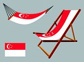 Singapore Hammock And Deck Chair Set
