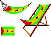 Sao Tome And Principe Hammock And Deck Chair Set