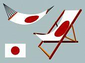 Japan Hammock And Deck Chair Set