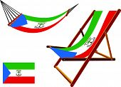 Equatorial Guinea Hammock And Deck Chair Set