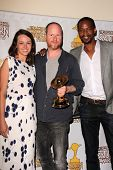 Amy Acker, Clark Gregg, J. August Richards at the 39th Annual Saturn Awards Press Room, The Castaway