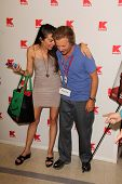 Alicia Arden and David Spade at K-Mart for the Upcoming Release Of
