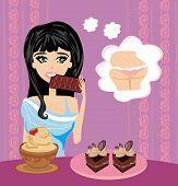 Girl Eats Sweets