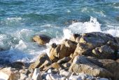 picture of cortez  - Waves crash in Sea of Cortez - JPG