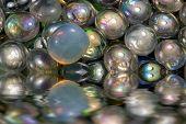 Sunken Iridescent Glass Beads