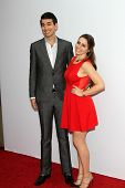 Nick Simmons and Sophie Simmons at the premiere of Summit Entertainment's