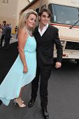 RJ Mitte and mother at the