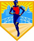 Triathlete Marathon Runner Retro