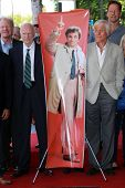 Ed Begley Jr., Dabney Coleman and Dick Van Dyke at the Peter Falk Star on the Hollywood Walk of Fame