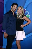 Eddie Judge and Tamra Barney at the NBC Press Tour, Beverly Hilton, Beverly Hills, CA 07-27-13