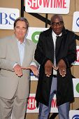 Beau Bridges and J.B. Smoove at the CBS, Showtime, CW 2013 TCA Summer Stars Party, Beverly Hilton Ho