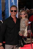 Ian Ziering with his daughter at the World Premiere Of Disney's Planes, El Capitan, Hollywood, CA 08-05-13