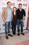Ryan Hansen, Kristen Bell and Chris Lowell at the Invisible Children Fourth Estate's Founders Party,