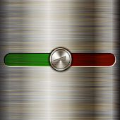 Vector volume control on the brushed steel background