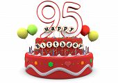 Happy Birthday Cream Pie With Age And Lettering