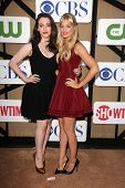 Kat Dennings, Beth Behrs at the CBS, Showtime, CW 2013 TCA Summer Stars Party, Beverly Hilton Hotel, Beverly Hills, CA 07-29-13